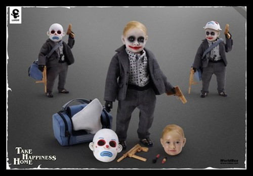 baby joker,creepy,dark knight,doll,joker,merch,Toyz