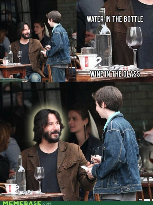 conspiracy keanu,jesus,keanu reeves,water,wine