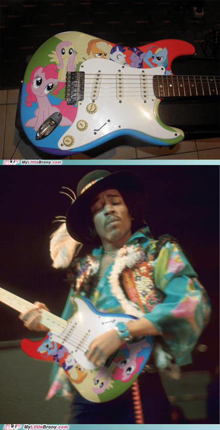20 Percent Cooler,guitar,jimi hendrix,photoshop,ponies