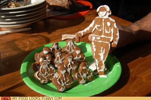 cop gingerbread icing incident pepperspray police protesters UC Davis