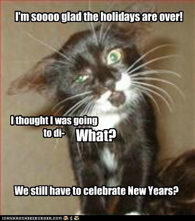 I'm soooo glad the holidays are over!