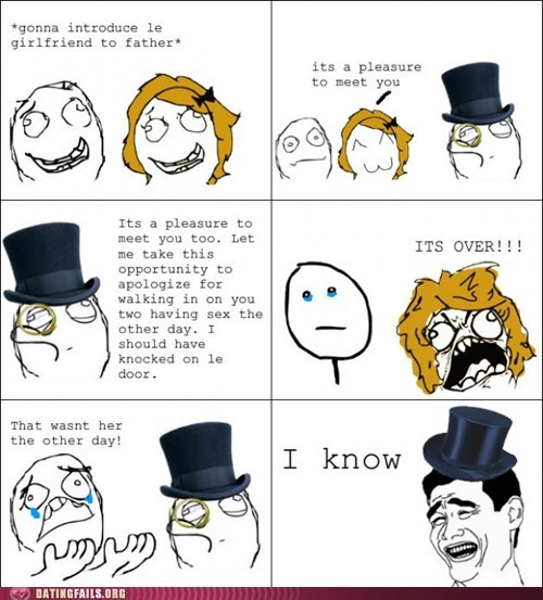 busted cheating comic dating Father girlfriend gotcha g rated meme rage comic sexy times troll dad - 5618439168