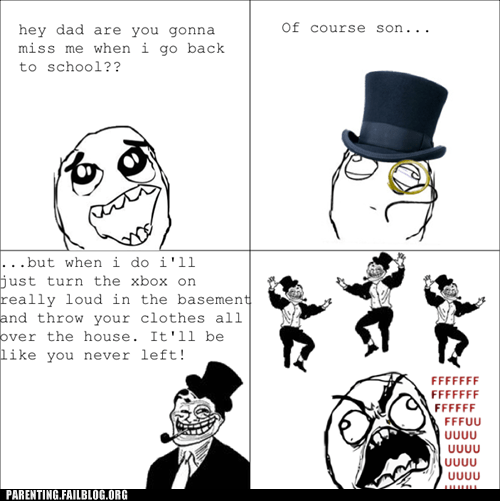 dad,g rated,lazy,parenting,Parenting Fail,rage comic,troll dad,video games,xbox