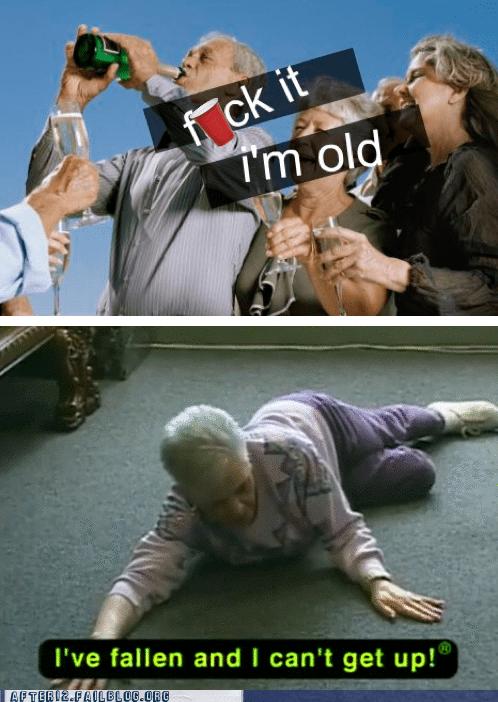 drinking drunk fallen old people - 5618564608