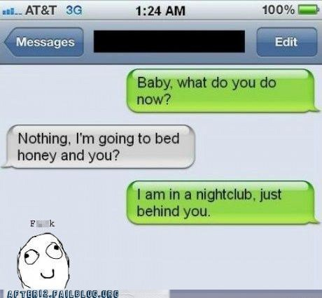busted cheating club lying texting - 5618603264