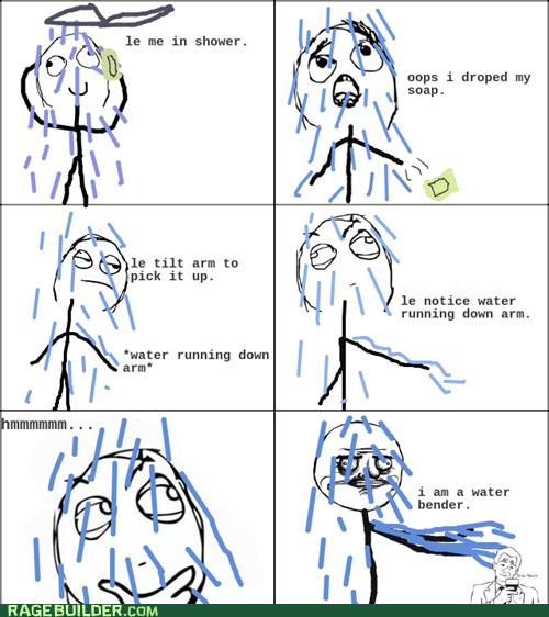 Rage Comics,shower,water,water bender