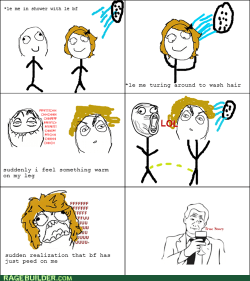 peetimes Rage Comics shower true story - 5618739200
