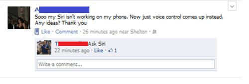 ask siri broken facebook siri troubleshooting - 5618801920