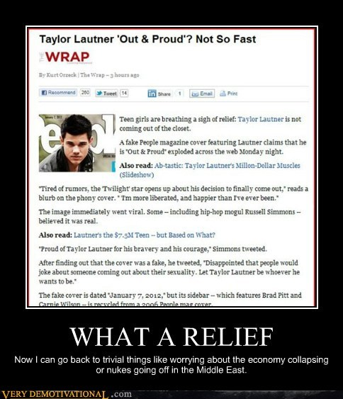 gay hilarious idiots news relief taylor lautner wtf - 5619176192
