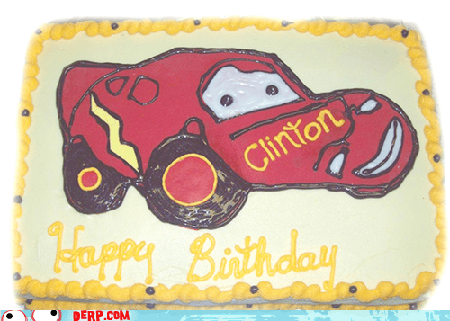 cake,cars,derp,happy birthday