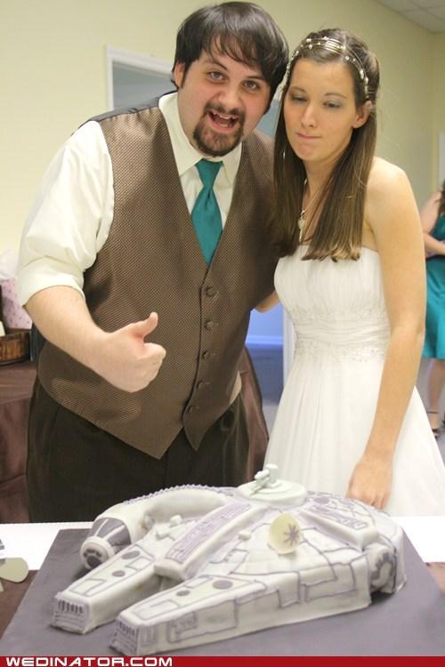 cake funny wedding photos grooms-cake millenium falcom star wars - 5619248384