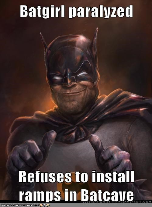 batgirl jerk paralyzed ramps Super-Lols - 5619394304