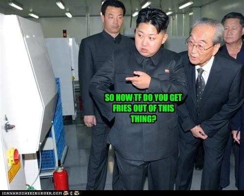 eat food french fries fries hungry i need food im-starving kim jong-in North Korea Pundit Kitchen - 5619476992