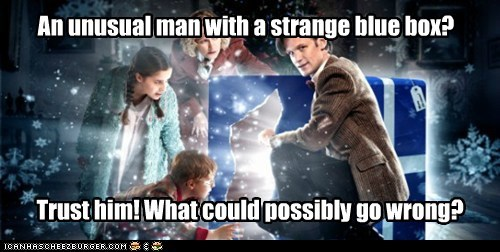 blue box,doctor who,Matt Smith,the doctor,the widow and the wardrobe,trust,what-could-go-wrong