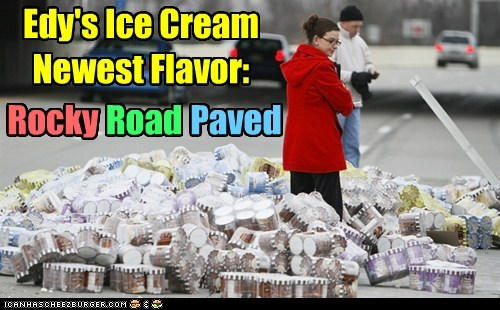 clean up ice cream oops rocky road spill - 5619684608