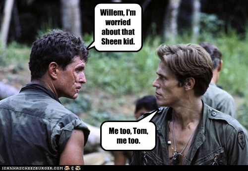 actor,celeb,funny,Hall of Fame,Movie,platoon,tom berenger,Willem Dafoe