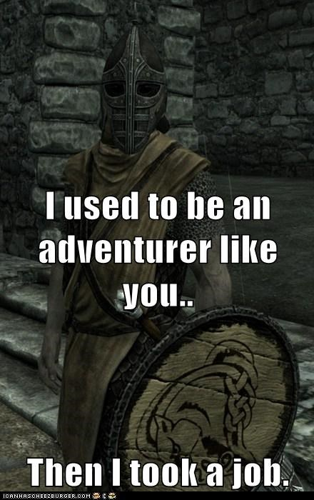 adventurer,arrow in the knee,guard,job,Skyrim,whiterun