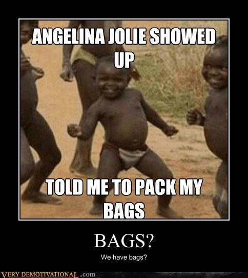 Angelina Jolie,bags,hilarious