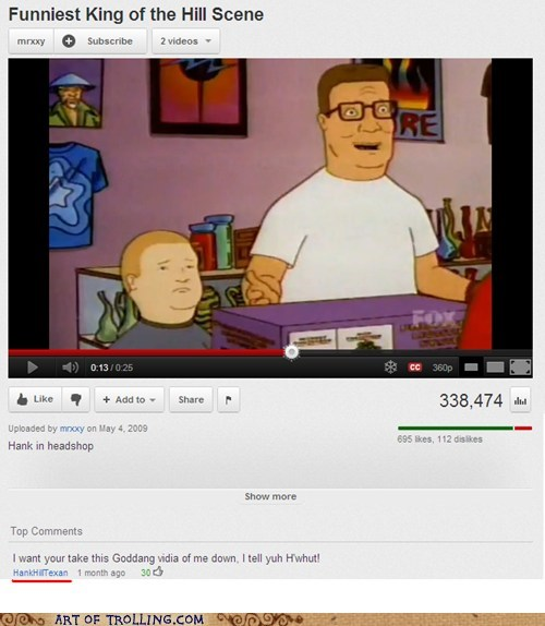comment King of the hill Video youtube - 5620800512