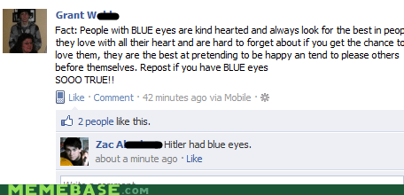 blue eyes facebook kind Memes - 5621085440