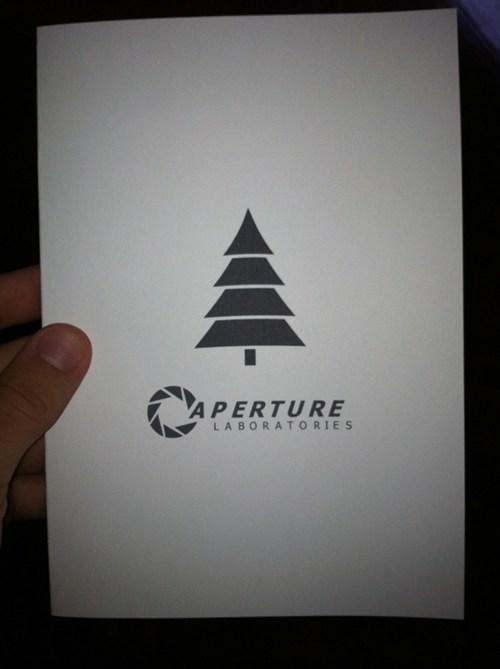 aperture science christmas card gladOS Portal video games - 5621129728