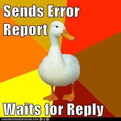 birds ducks dumb Error Report Technologically Impaired Duck technology waiting - 5621146624