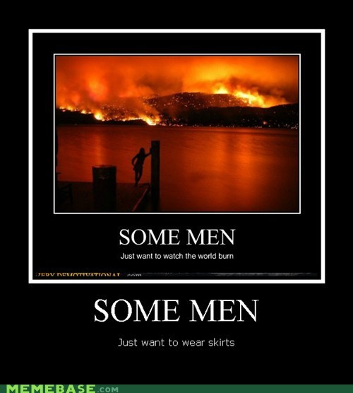fire hilarious men skirts wtf - 5621262592