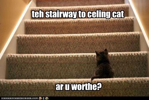 teh stairway to celing cat ar u worthe?