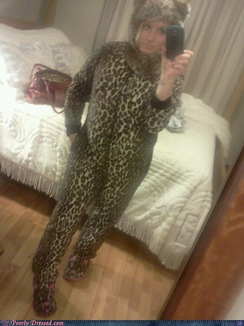 camera phone cat lady leopard print meow