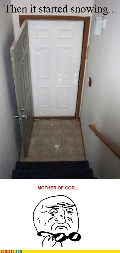 awesome door mother of god reaction snow the internets