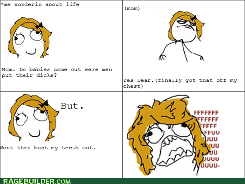 Babies mouth no no tubes Rage Comics