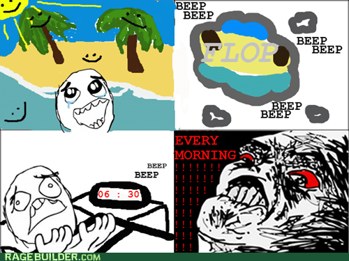 alarm dreams Rage Comics waking up - 5621748736