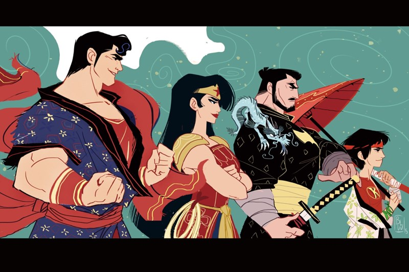 samurai Fan Art wonder woman batman superman - 562181