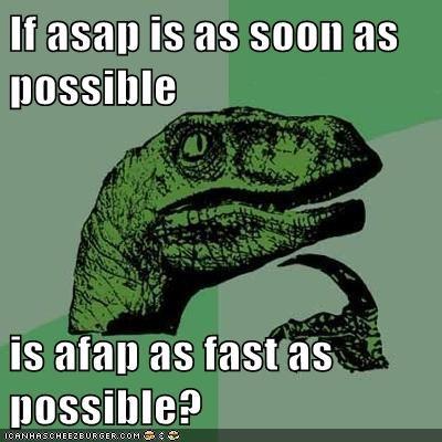 asap fap fast philosoraptor - 5621868288