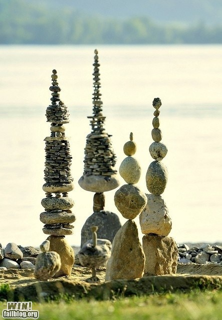 art balance design rock stacking stones win-g-rated