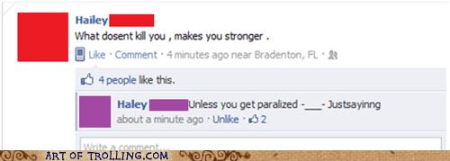Death facebook paralysis strength - 5621931776