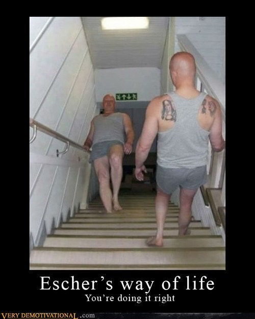 crazy hilarious mc escher stairs wtf