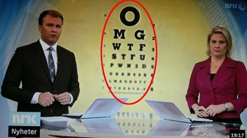 Leaky Interpipes Norway OMGWTG eye chart - 5622164224