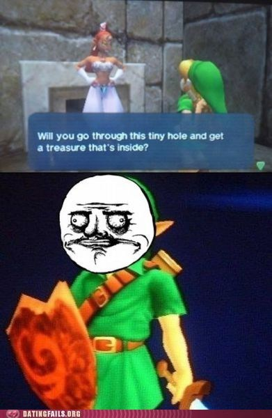 dirty mind double entendre gerudo link ocarina of time treasure video games zelda