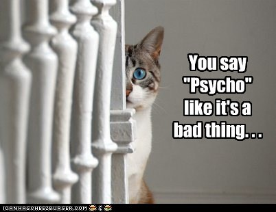 "You say ""Psycho"" like it's a bad thing. . ."