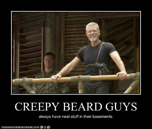 CREEPY BEARD GUYS always have neat stuff in their basements.