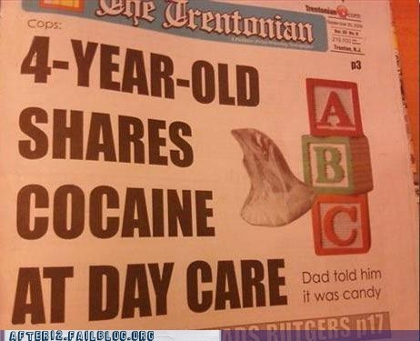 coke,day care,drugs,sharing,sharing is caring,tanked toddlers