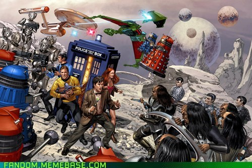 crossover,doctor who,Fan Art,Star Trek