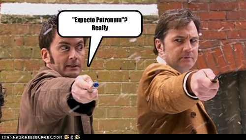 david morrissey,doctor who,expecto patronum,Jackson Lake,patronus,sonic screwdriver,spell,the doctor