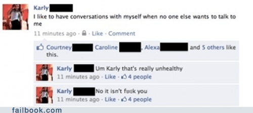 conversation,facebook,failbook,forever alone,g rated,social media,wtf
