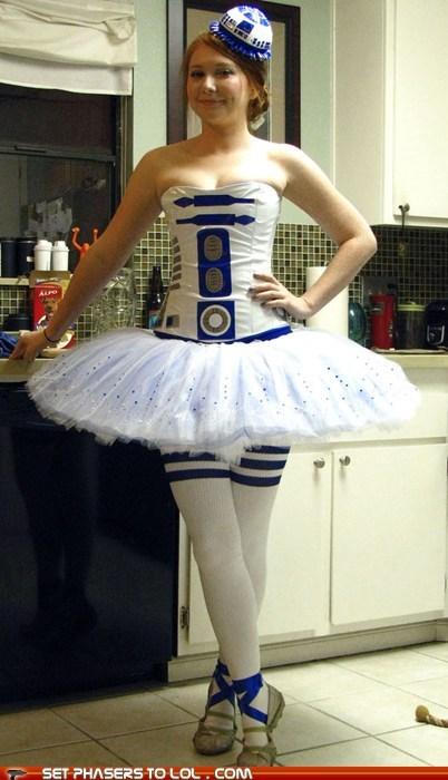 ballet cosplay costume dance r2d2 star wars - 5622625280