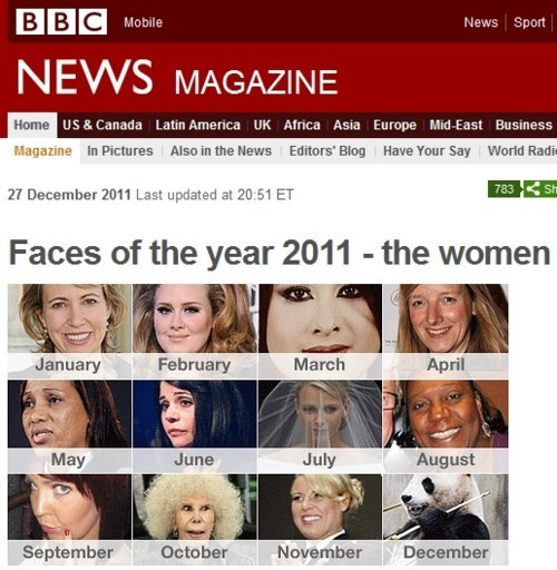 bbc Faces of the Year faux pas Some Dumb Erratum sweetie