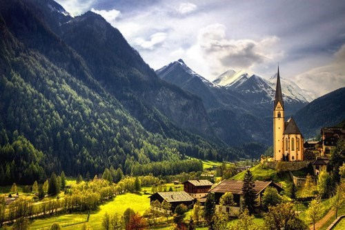 architecture,austria,clouds,europe,getaways,green,mountains,user submitted,valley