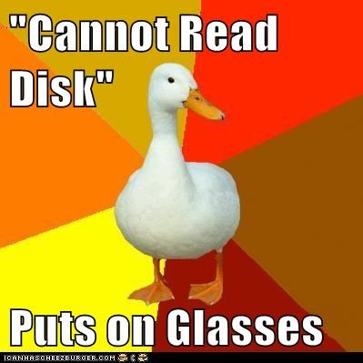 birds blind disk ducks glasses read reading Technologically Impaired Duck - 5623292672