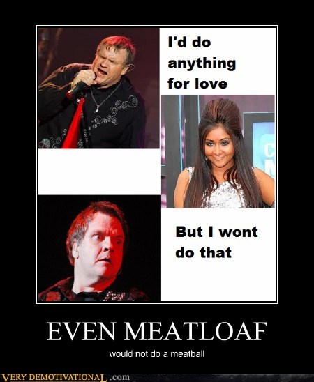 EVEN MEATLOAF would not do a meatball
